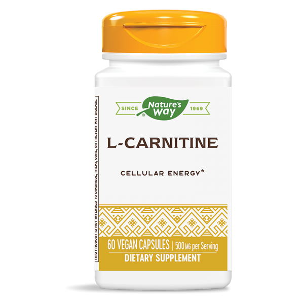 Л-карнитин 500 mg х 60 капс. Nature's Way - 1