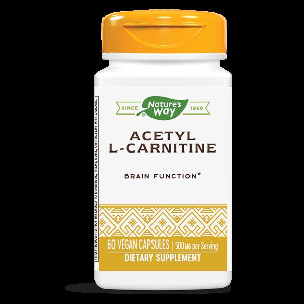Ацетил-Л-карнитин 500 mg Nature's Way - 1