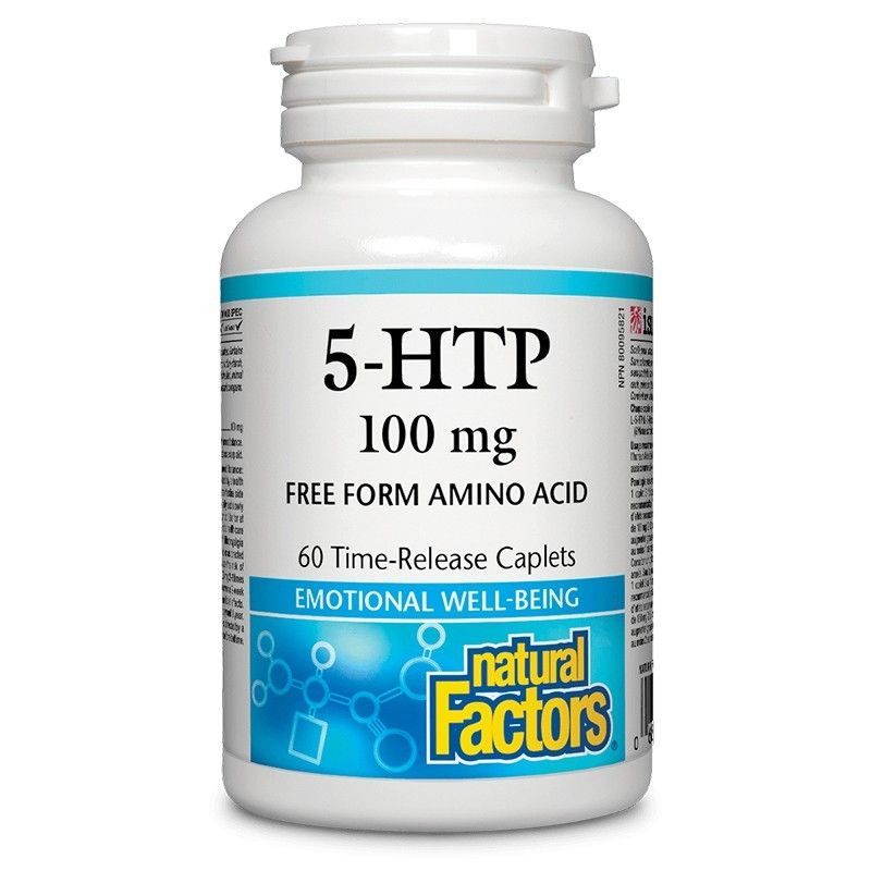 5-Хидрокситриптофан 100 mg /При депресивни състояния/ Natural Factors - 1