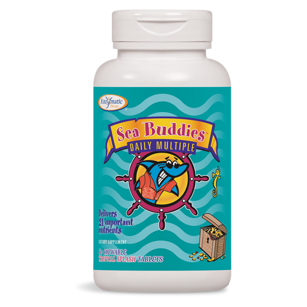 Sea Buddies /Мултивитамини и Йод (тропик) 480 mg х 60 дъвчащи табл. Nature's Way - 1