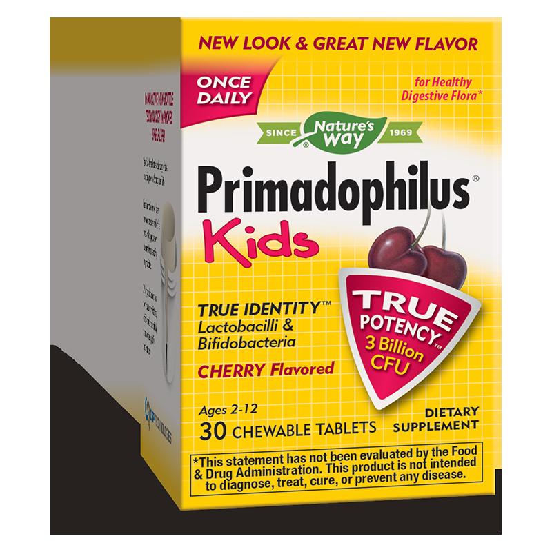 Primadophilus Kids®/ Примадофилус® Кидс 3 млрд. активни пробиотици х 30 дъвчащи таблетки с вкус на череша