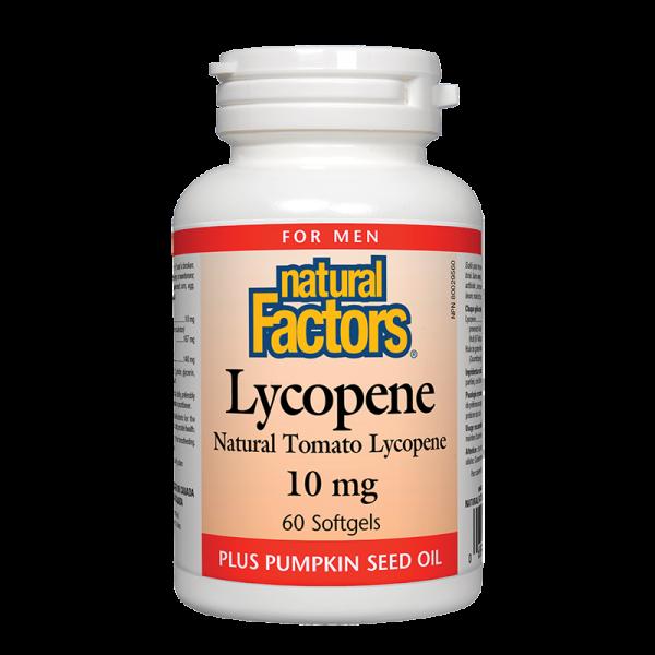 Ликопен 10 mg x 60 софтгел капсули Natural Factors - 1