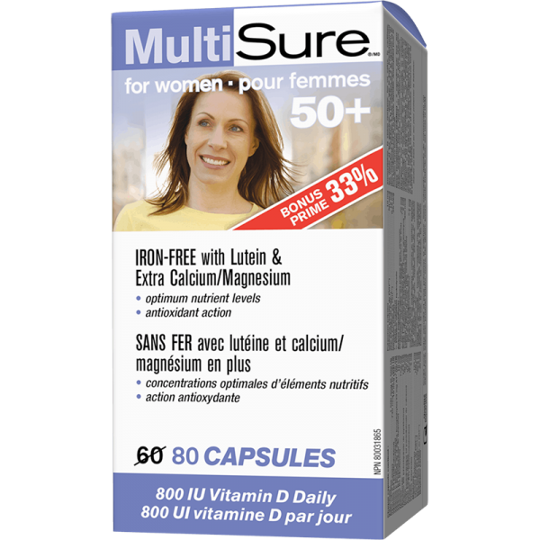 Multi Sure™ / Мултивитамини за жени 50+ x 80 капсули Webber - 1