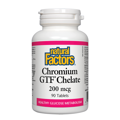 Хром GTF (хелат) 200 mcg х 90 таблетки Natural Factors