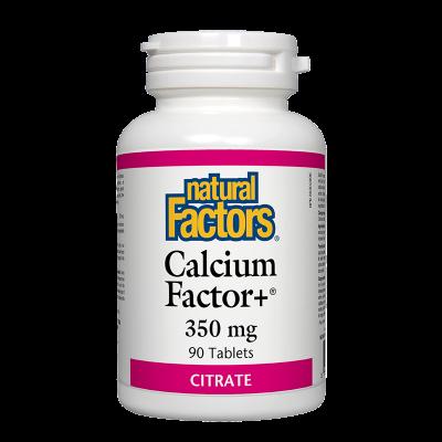 Калций фактор+ (цитрат) 350 mg х 90 таблетки Natural Factors