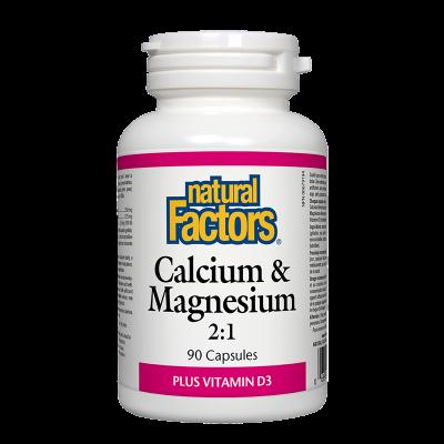 Калций и Магнезий+Витамин D3 376 mg х 90 капсули Natural Factors