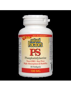 ПиЕс-ФосфатидилСерин 100 mg х 30 софтгел капсули Natural Factors