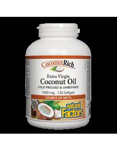 CoconutRich™ Кокосово масло Extra Virgin x 120 софтгел капсули Natural Factors
