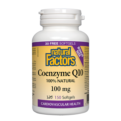 Коензим Q10 100 mg х 150 софтгел капсули Natural Factors