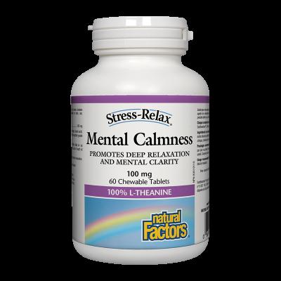 Mental Calmness® Л-ТЕАНИН 125 mg /При стрес/ Natural Factors