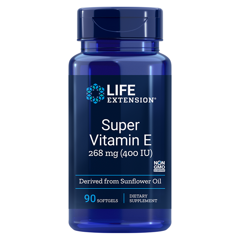 Super Vitamin E/ Супер Витамин Е (d-aлфа токоферол) 400 IU x 90 софтгел капсули