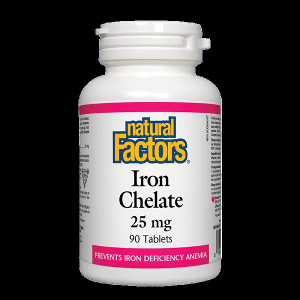 Желязо (хелат) 25 mg Natural Factors - 1