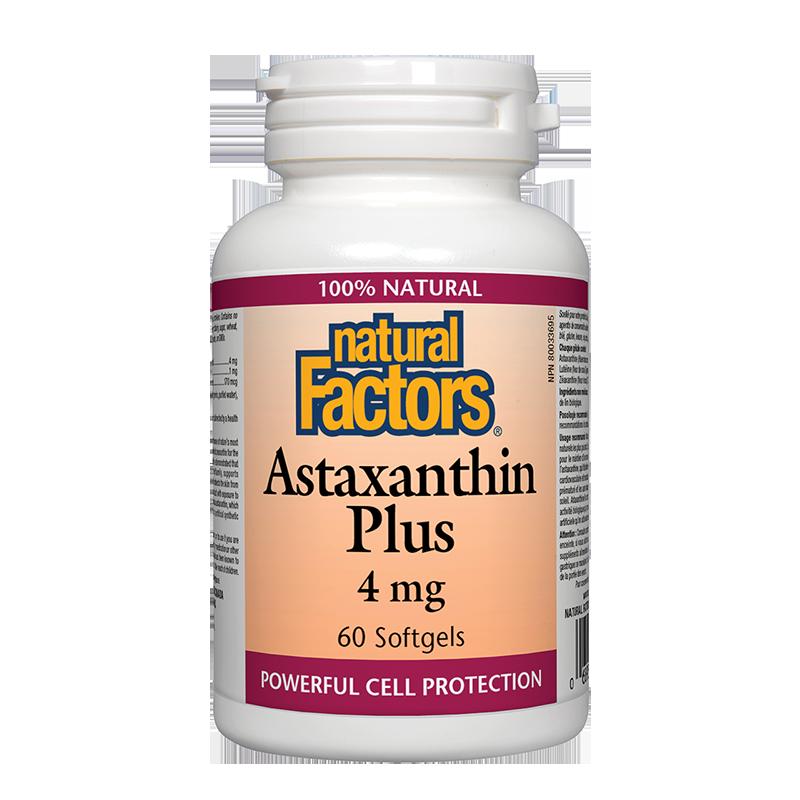 Astaxanthin Plus/ Астаксантин + Лутеин и Зеаксантин 4 mg х 60 софтгел капсули
