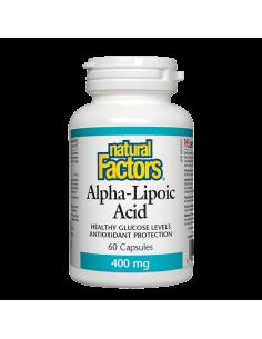 Алфа-липоева киселина 400 mg x 60 капсули Natural Factors