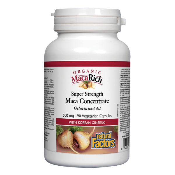 Мака оргáник супер концентрат 500 mg Natural Factors