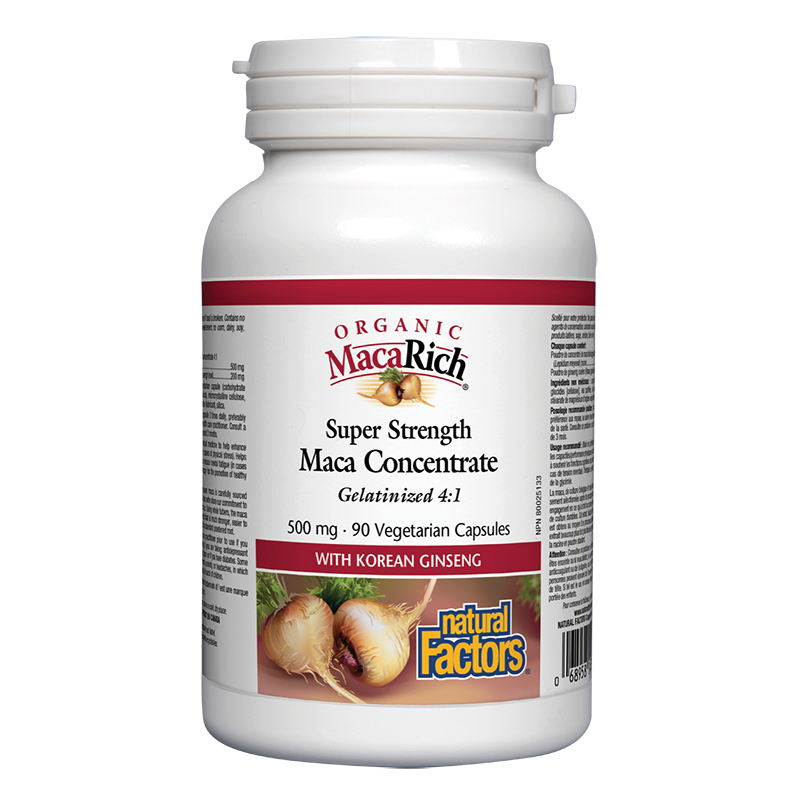 MacaRich® Organic Maca Concentrate 4:1/ Мака 500 mg х 90 капсули