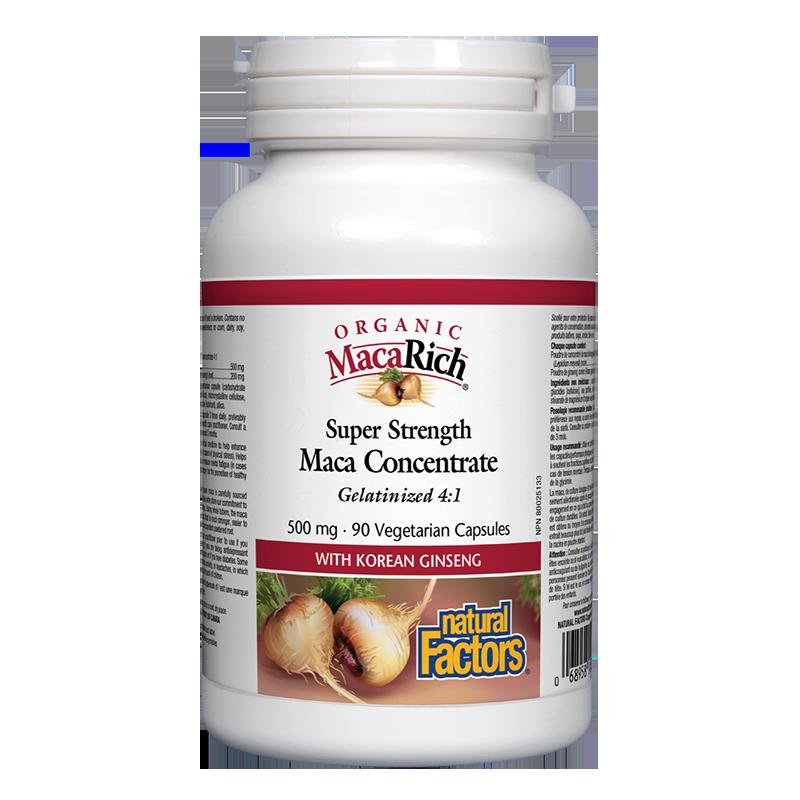 MacaRich® Organic Maca Concentrate 4:1/ Мака 500 mg х 90 капсули
