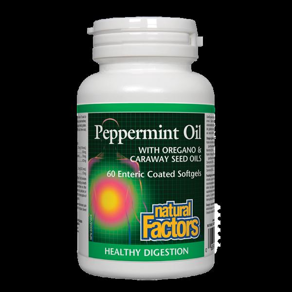 Мента масло с риган и ким 200 mg Natural Factors
