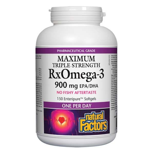 RX Omega-3 Maximum Triple Strength (Тройна концентрация 900 mg EPA/DHA) 1425 mg Natural Factors