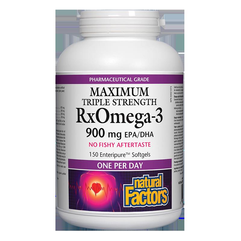 RxOmega-3 Maximum Triple Strength / Рибено масло, 1425 mg (900 mg EPA/DHA)х 150 софтгел капсули