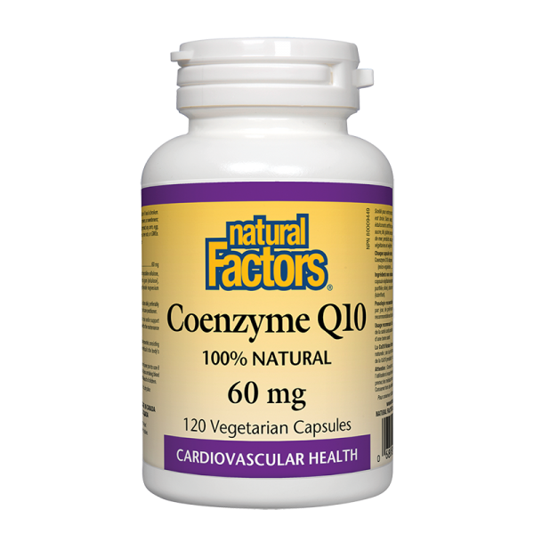 Коензим Q10 60 mg x 120 капсули Natural Factors