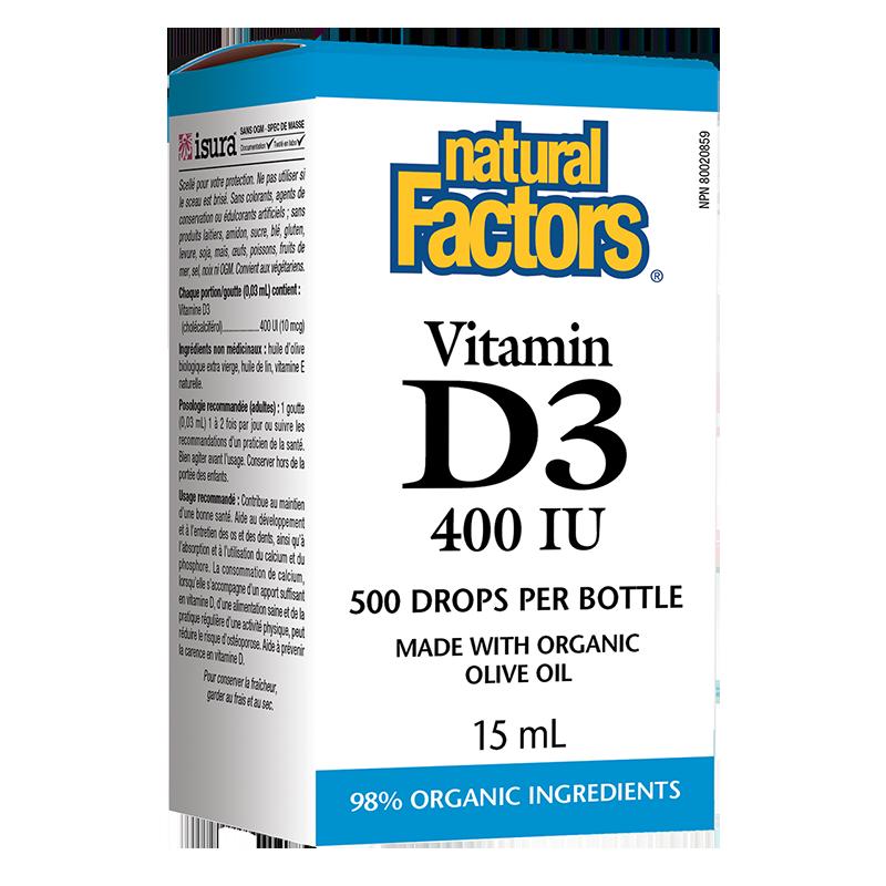 Vitamin D3/ Витамин D3 400 IU x 15 ml/ 500 дози