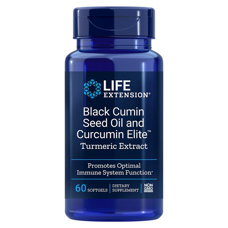 Black Cumin Seed Oil and Curcumin Elite™/ Черен кимион масло + Куркумин х 60 софтгел капсули