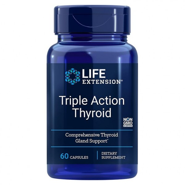 Triple Action Thyroid, 60 капсули