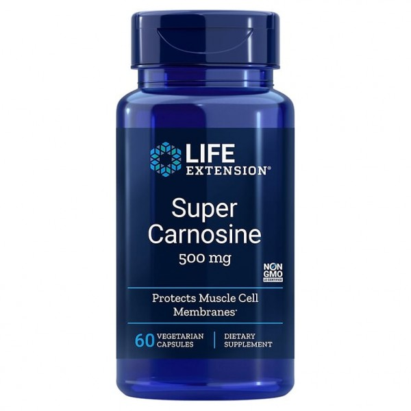 Super Carnosine, 500 mg, 60 капсули