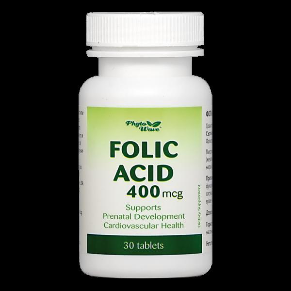 Folic Acid/ Фолиева киселина 400 mcg...