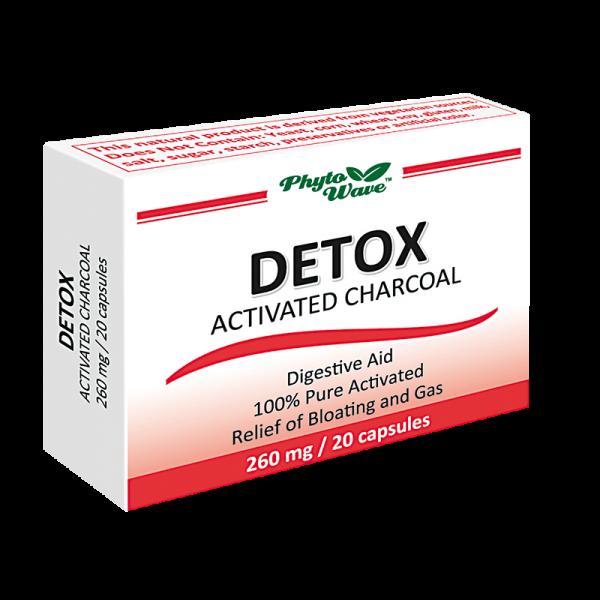 Детокс активен въглен 260 mg х 20 капс