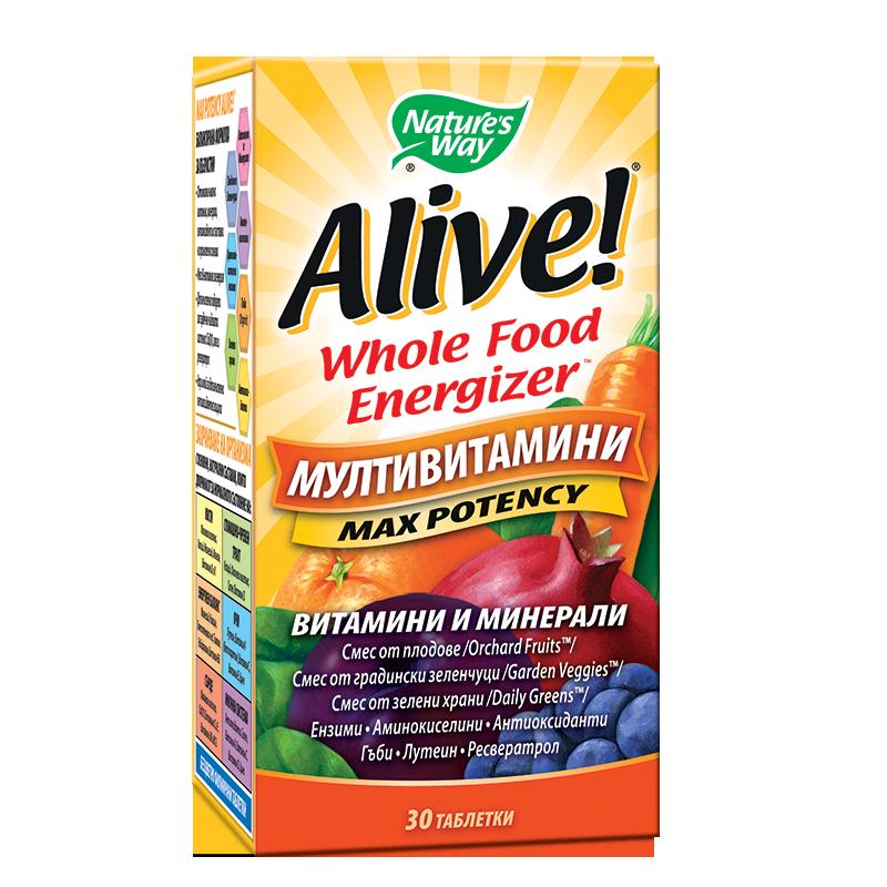 Alive! Multi-Vitamin / Алайв! Мултивитамини х 30 таблетки