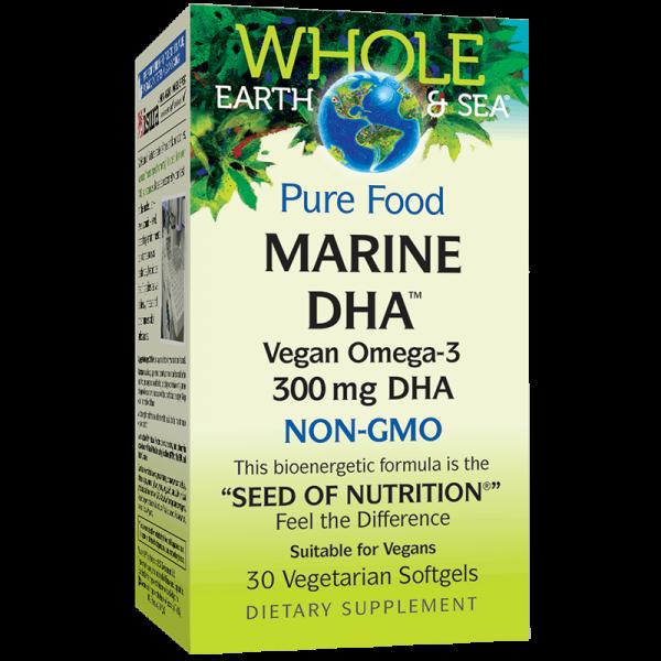 Marine DHA™ Vegan Omega-3 Whole Earth...