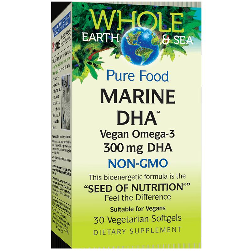 Marine DHA™ Vegan Omega-3 Whole Earth & Sea®/ Веган Омега-3 от микроводорасли 300 mg x 30 софтгел капсули