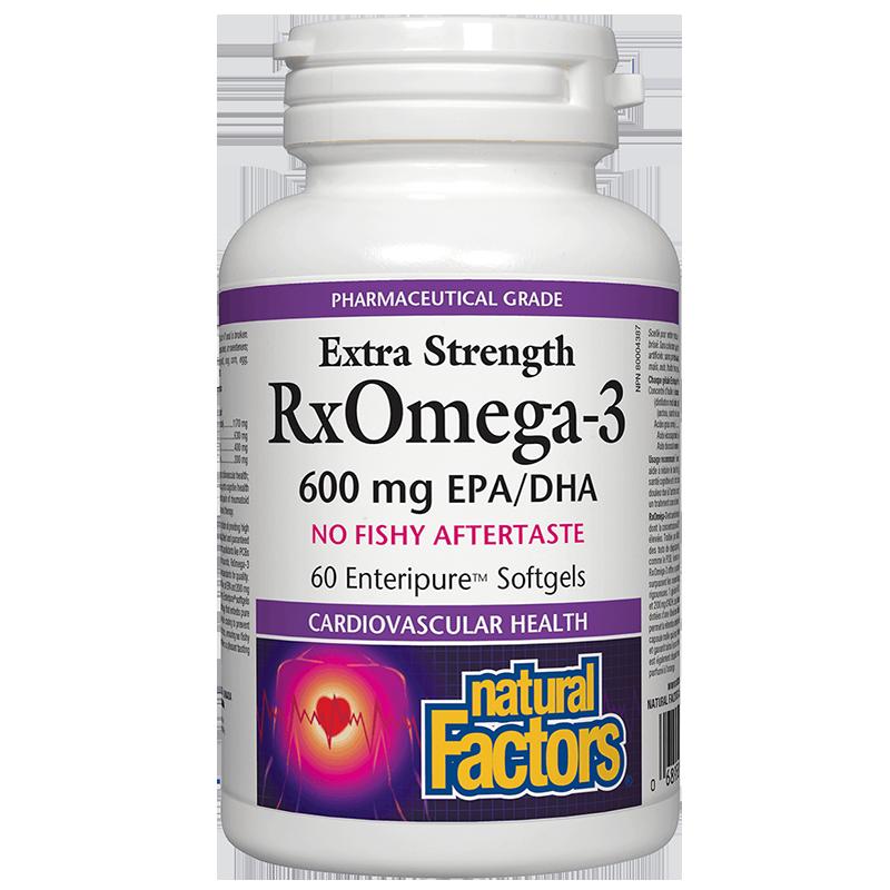 RxOmega-3 Extra Strength / Рибено масло, 1170 mg (600 mg EPA/DHA) х 60 софтгел капсули