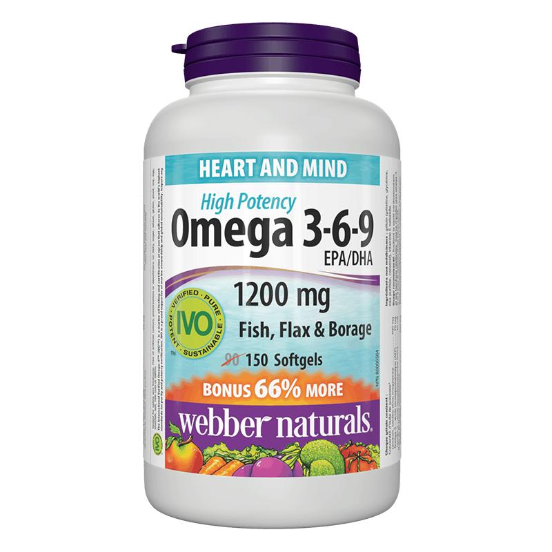 Omega 3-6-9/ Омега 3-6-9 1200 mg x 150 софтгел капсули