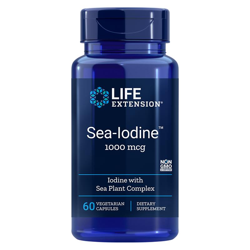 Sea-Iodine™ / Йод от морски водорасли 1000 µg, 60 капсули