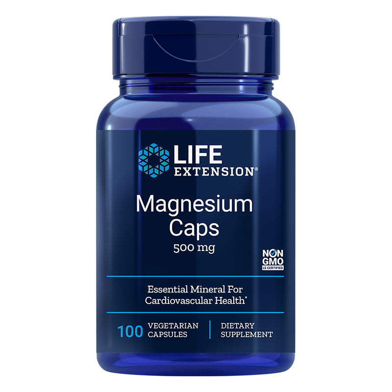 Magnesium / Магнезий 500 mg, 100 капсули