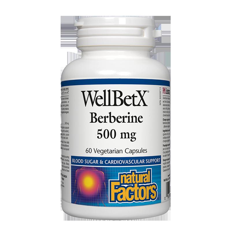 WellBetX® Berberine/ Берберин 500 mg х 60 капсули