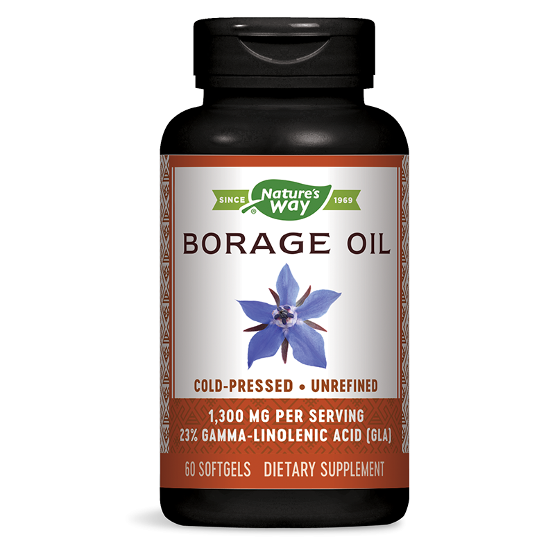 Borage Oil 23% GLA/ Пореч масло 1300 mg х 60 капсули
