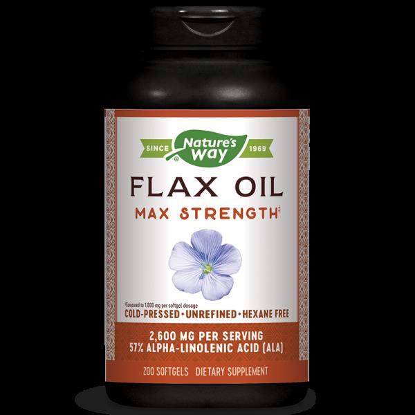 Flax Oil Max Strenght 57% ALA/ Ленено...