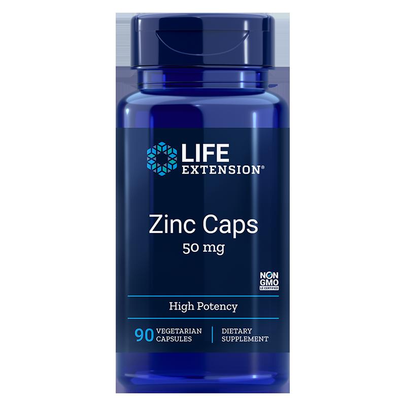 Zinc Caps / Цинк (монометионин) 50 mg x 90 капсули