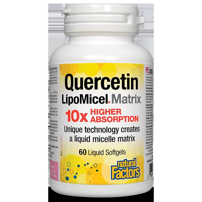 Quercetin LipoMicel Matrix 10 X Higher Absorption/ Кверцетин 250 mg x 60 софтгел капсули