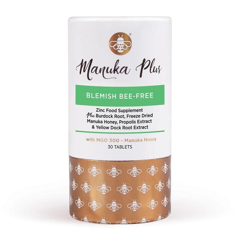 Manuka Plus® Blemish Bee Free/ Формула против петна по кожата с мед от Манука MGO 300 х 30 таблетки