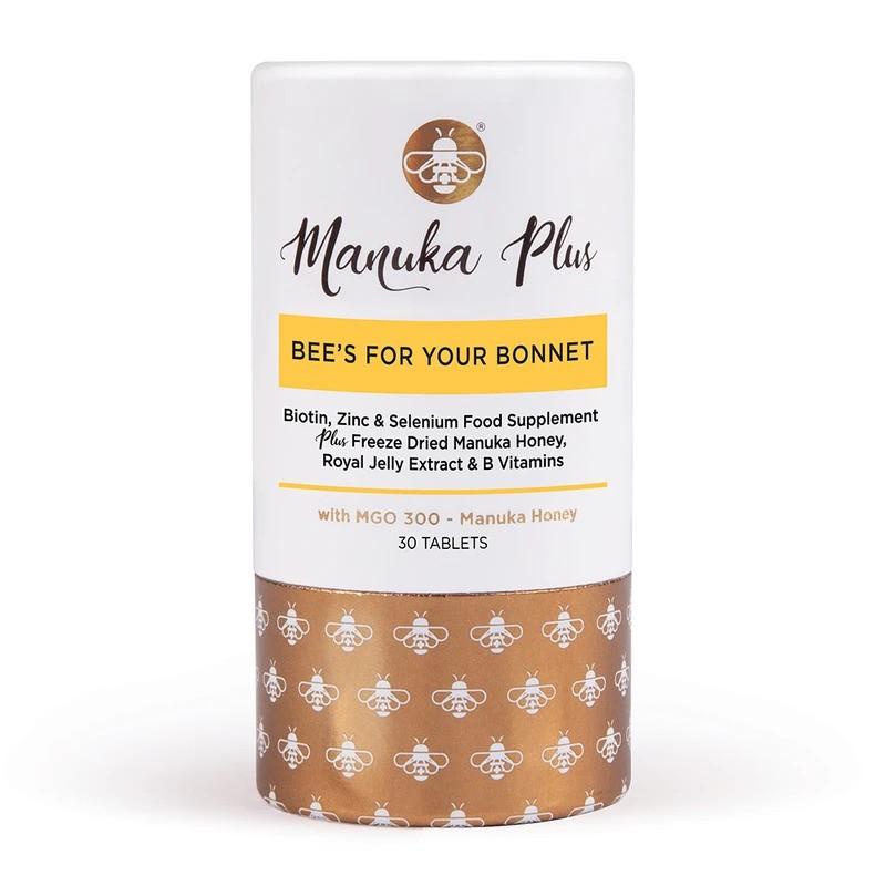 Manuka Plus® Bee`s For Your Bonnet/ Формула за коса, кожа и нокти с мед от Манука MGO 300 х 30 таблетки