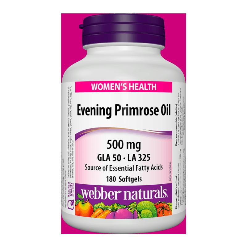 Evening Primrose Oil / Вечерна иглика масло 500 mg х 180 софтгел капсули