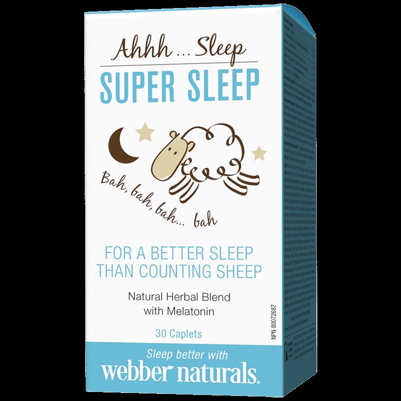 Super Sleep/ Билкова формула с Мелатонин за спокоен сън х 30 каплети