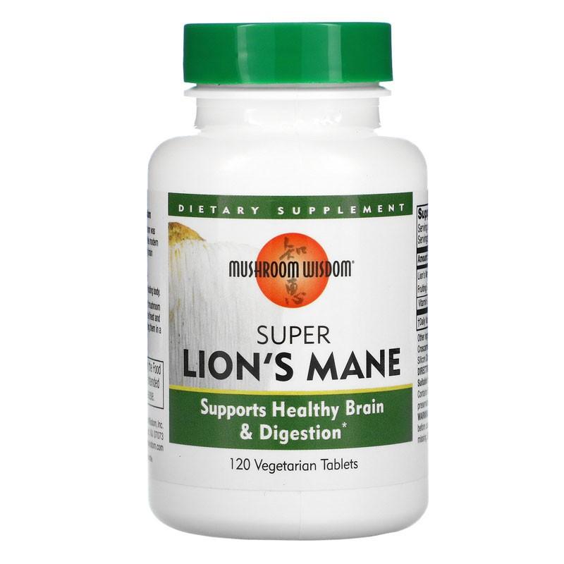 Super Lions Mane / Супер лъвска грива, 120 таблетки
