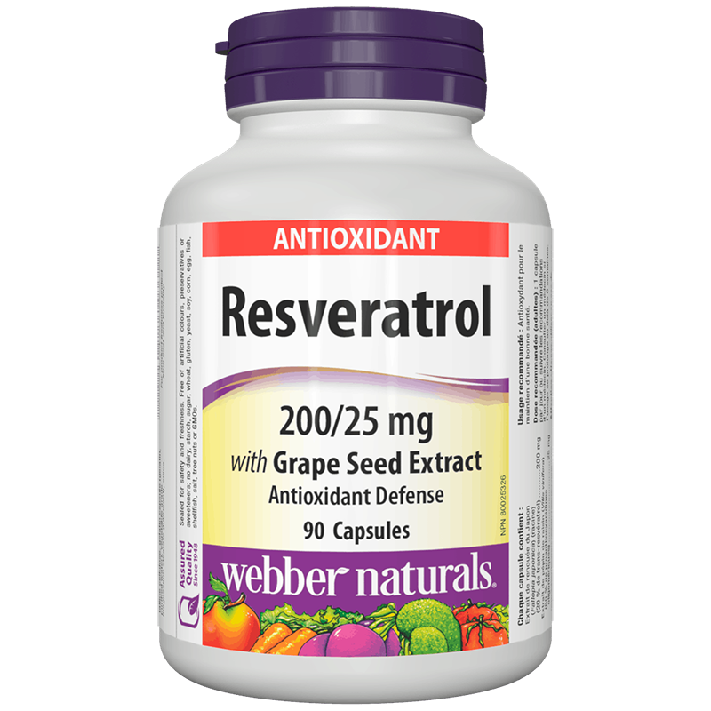 Resveratrol with Grape Seed Extract/ Ресвератрол 200 mg с Гроздово семе 25 mg х 90 капсули