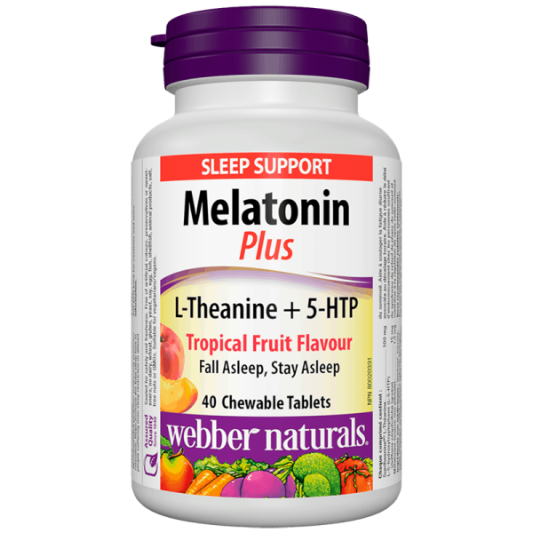 Melatonin Plus L-Theanine + 5-HTP/...
